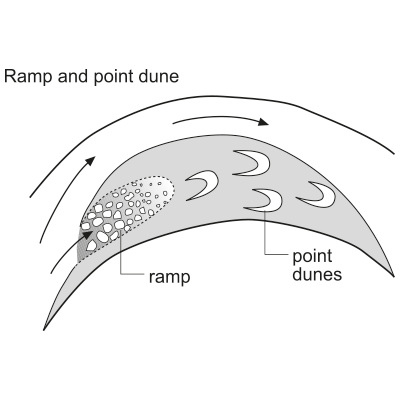 Ramp (chute channel fill) and point dune