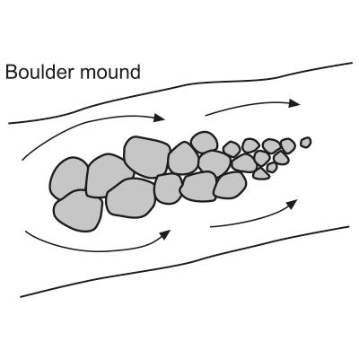 Boulder mound