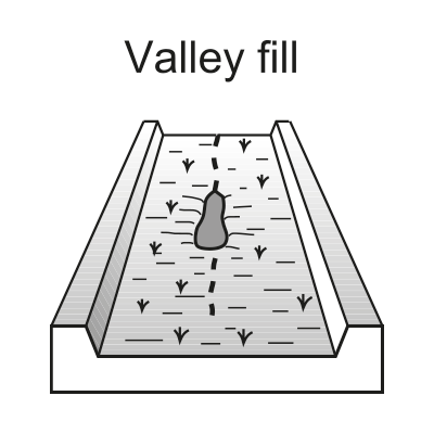 Valley fill (swamp, swampy meadow)